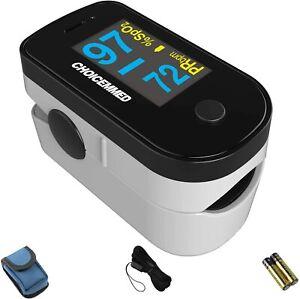 CHOICEMMED Black Dual Color OLED Finger Pulse Oximeter - Blood Oxygen...
