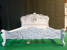 BESPOKE  Super King Diamond White French style designer mahogany Rococo Bed