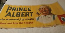 "Vintage Prince Albert Cloth Advertising Banner-Size 59 1/2"" X 29"""