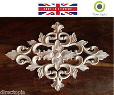 30 x 20 cm squisita Classic Wood Intagliato centro Diamond APPLIQUE Furniture