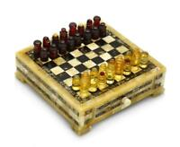 Chess set made of baltic amber unique item