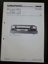 Original Service Manual Grundig TT 1