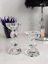 2 X Crystal Candelabra Candlestick Tealight Holder, Stunning Gift Idea