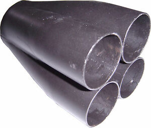 "4-1 Mild Steel MERGE COLLECTOR 4 x 1 1/2"" in, 2 1/2"" out High Performance (C000)"