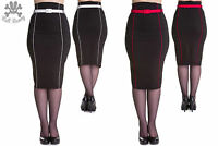 Hell Bunny Pinup Pencil Skirt 2XL - 4XL Plus Size