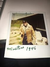 Herman Keiser 1946 Masters Champ Signed Polaroid Photo From His Driving Range