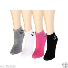 12 Pairs Womens Girl Ankle Socks Multi Colors Size 9-11 Peace Sign Logo Fashion