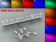5mm LED Leuchdioden milch diffus LEDs + Widerstände alle Farben 5 mm