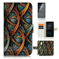 ( For Alcatel 3 2019 ) Wallet Flip Case Cover AJ40695 Abstract Pattern