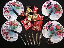 20 CHINESE HAND FAN 20 FORTUNE COOKIES BIRTHDAY WEDDING CHILDREN JAPANESE PARTY