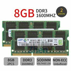 Samsung 16GB 2x 8GB 1600MHz 4GB DDR3 PC3-12800 SODIMM Laptop Memory SDRAM LOT BT