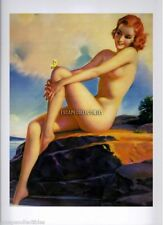 Mabel Rollins Harris Pin Up Nude Girl w/ Butterfly on Leg 10X12 Art Print