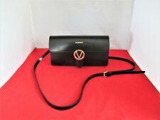 MARIO VALENTINO Mabelle Soave Leather Clutch, Shoulder Bag, Crossbody $695 Black