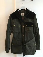 Ladies Green Country Wax Look Coat Jacket By Aigle Size 8