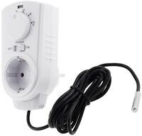 Steckdosen Thermostat 5-30 C für Infrarot Heizung Klimageräte mit Außenfühler