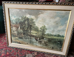 John Constable print 'The Hay Wain'  large Size Framed