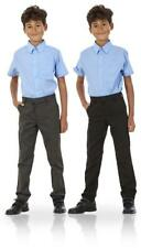 Boys Adjustable Waist Teflon Coating Formal Slim Fit School Trousers Age 3-16