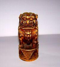 "Stone/Dolomite Asian Spirit Figure Statue Foo Dog Strength/Power/Guardian 6"""
