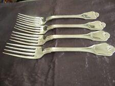 Pristine Christofle Port Royal Set of Four Dinner Forks