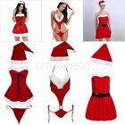 Sexy Women's Christmas Santa Claus Costume Set Party Cosplay Fancy Dress Outfit