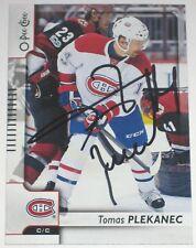 TOMAS PLEKANEC SIGNED 17-18 O-PEE-CHEE MONTREAL CANADIENS CARD AUTOGRAPH AUTO!!