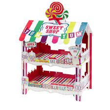 Sweet Shop Stand 2 Tier Sweet Stand, Stickers & Paper Treat Bags X 12 Party