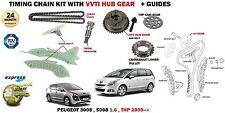 Pour Peugeot 3008 5008 MPV EP6DT 1.6 16v THP 2009- > Kit Chaîne Distribution +