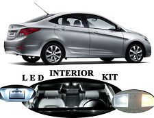 LED Package - Interior + License Plate + Vanity for Hyundai Accent (10 pieces)