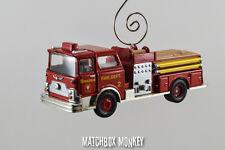 Boston Fire Dept Mack CF Pumper Truck Engine Rare Custom Christmas Ornament 1/64