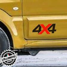 2x Adesivi Scritta 4x4 X Rossa Offroad Fuoristrada Stickers Auto Jeep Moto Decal
