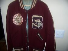 "Varsity Wool 1959 Basketball Jacket ""John Bretnall"" Smoky Mt. State 4 Aa Champs"