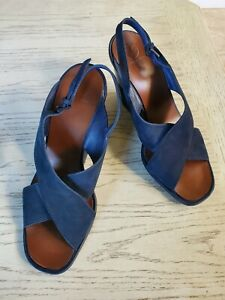 TORY BURCH Gabrielle Nubuck Strappy Wedge Sandals Shoes Size 10