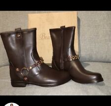 Brown Flat Ankle Boots  Similar Look To Horse Riding Boots Size 5 Brand New
