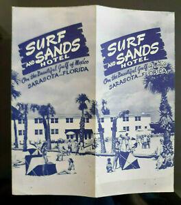 Vintage 1951 Surf And Sands Hotel Lido Beach, Sarasota, Florida