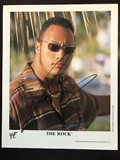 The Rock Dwayne Johnson RARE Signed WWF Original 8x10 Promo Photo P588 BAS WWE