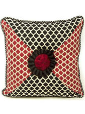 """Mackenzie Childs QUEEN OF HEARTS Upscale Decorator SQUARE Pillow 20"""" $350 m18-a"""