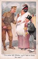 Ww1 Recruiting Sergeant  I've Never Left Mother I Hate to Leave Her Now Postcard