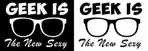 Personalised GEEK NERD SEXY hen do fancy dress iron on t-shirt transfers a5 a4