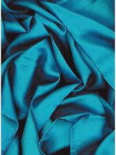 Solid Turquoise Western Cowboy Silk Wild Rag Bandana Buckaroo Scarf