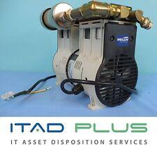 Welch 2585B-01 WOB-L Laboratory Dry Oil-Free Piston Vacuum Pump 115 VAC 60Hz