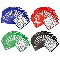 Reusable Multi-Color Mixed Easy Read Paper Bingo Cards (100-Pack)