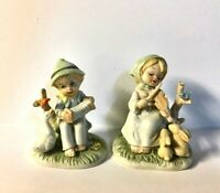 2 Girl and Boy Figurines PLAYING NATURE'S SONG & DANCE By NEW TRENDS