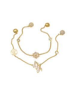 Swarovski Remix Gold Tone Czech White Crystal Bracelet 5512434