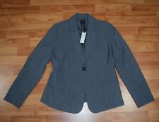 New!  GAP MATERNITY Women's Sz 4 Gray  One-Button BLAZER