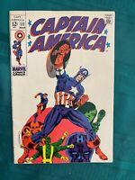 Captain America 111 Very Fine+ (8.5) - Off-White Pages - Steranko Art!!