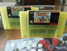 Super Nintendo SNES Yoshis Island 2+ and 2+2 Clear Yellow Set of Two Carts Only