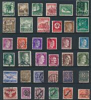 Lot Stamp Germany WWII 3rd Reich Hitler Feldpost Official Austria Troop Dienst U