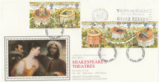 (04630) GB PPS Sothebys FDC Shakespeares Globe Tropical endroits Slogan 1995