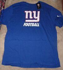 NEW NFL NY New York Giants T Shirt Men BIG 4XL XXXXL NIKE Blue NEW NWT