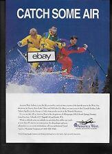 AMERICA WEST AIRLINES 1994 CATCH SOME AIR SKI IN DENVER-TELLURIDE ROCKIES AD